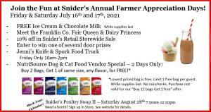 Farmer Appreciation Days @ Snider's Elevator Inc | Mercersburg | Pennsylvania | United States
